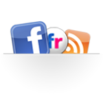 Logos for Facebook, RSS feed,
