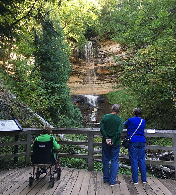 Visitors Looking at Miners Falls
