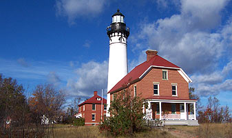The Au Sable Light Station is located on Lake Superior.