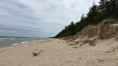 Lonely beach near the Beaver Basin Wilderness Area along Lake Superior.