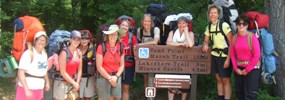 Backpackers ready to head down the trail. Photo courtesy of Covenant Point Bible Camp.