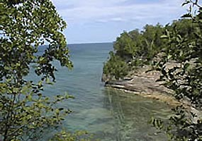 This cove is nestled in the cliffs along Grand Island in Lake Superior.