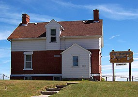 The Grand Marais Harbor of Refuge now houses the Grand Marais Historical Society's Lighthouse Keepers House and Museum.