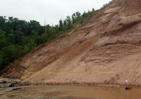 Grand Sable Dunes - undercut and eroding into Sable Creek and Lake Superior.