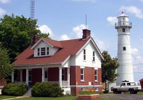 The Munising Front and Rear Range Lights and Auxiliary Station were added to Pictured National Lakeshore in 2002.