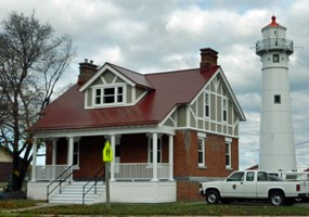 The former Munising Range Light Auxiliary Station is now part of Pictured Rocks National Lakeshore.