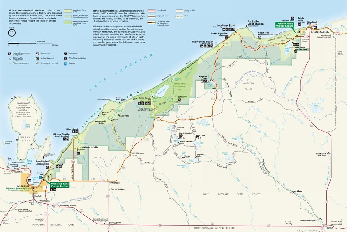Pictured Rocks map 2018