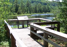 The Sand Point Marsh Trail is a half-mile long disabled accessible nature trail.