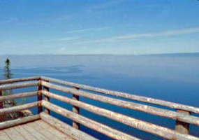 Lake Superior is a blue beauty from this overlook at Sleeping Giant Provincial Park.