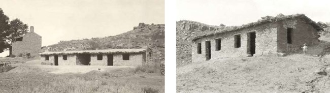 East Cabin and West Cabin after restoration