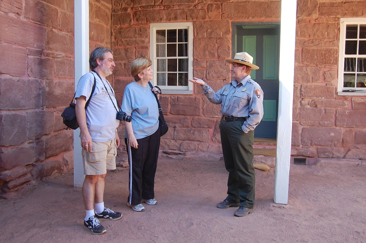 Ranger Gene giving a fort tour