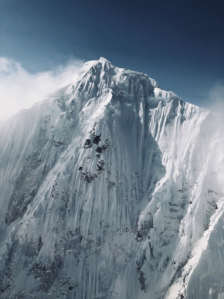 The dramatic North Face of Mt. Huntington