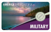 The 2019 Interagency Annual Pass-Military appears with a mountain, water and night sky.