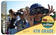The 2020-2021 4th Grade Pass with several 4th grade kids using binoculars to look at birds and wildlife at San Diego National Wildlife Refuge in California.