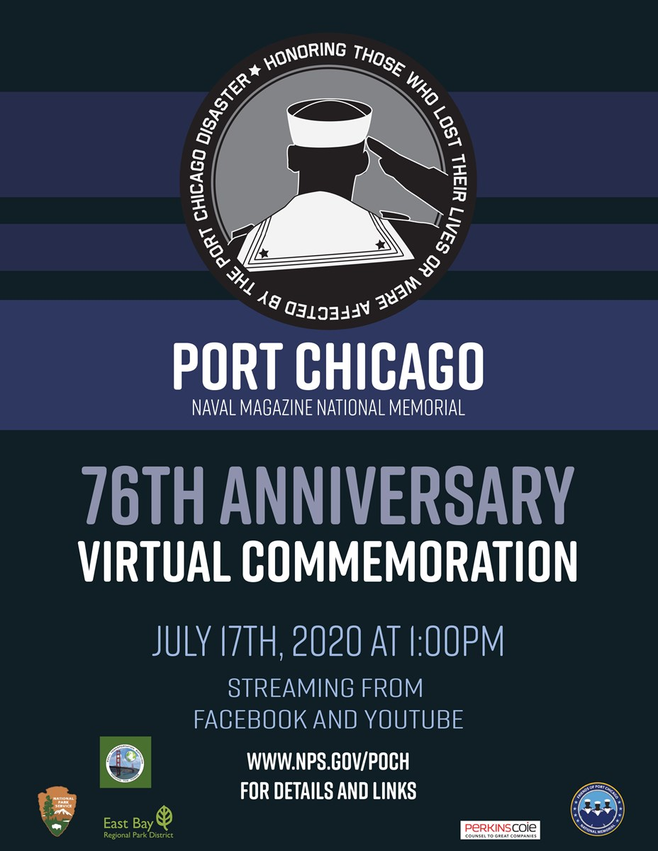 Text flyer of Port Chicago Virtual Commemoration Event