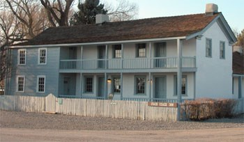 Photo image of the Camp Floyd Pony Express Station.