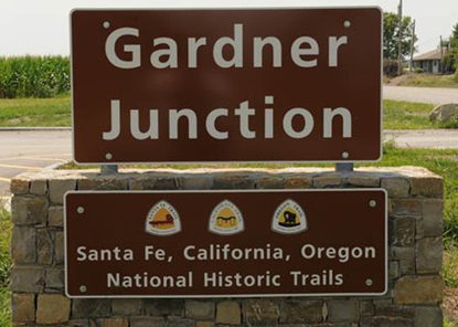 Gardner Junction Site identification sign