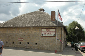 Photo image of the Marysville Pony Express Barn.