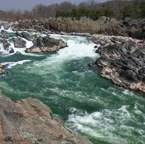 rushing waters of the Potomac River
