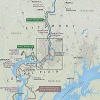 Map of Potomac Heritage NST