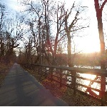 Sunrise along the Potomac Heritage National Scenic Trail