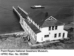Point Reyes Lifeboat Station at Chimney Rock. Point Reyes National Seashore Museum, HPRC Rec. No. 002690.