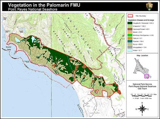 Vegetation map of the Palomarin Fire Management Unit