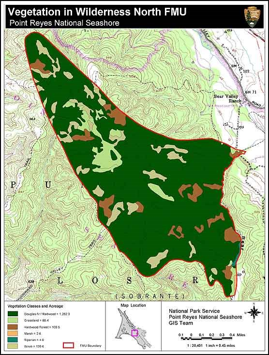 Vegetation map of the Wilderness North Fire Management Unit