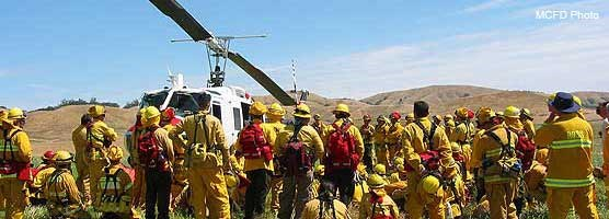 Wildland Fire Academy field exercises in West Marin