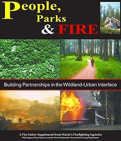 People, Parks & Fire publication's front page.