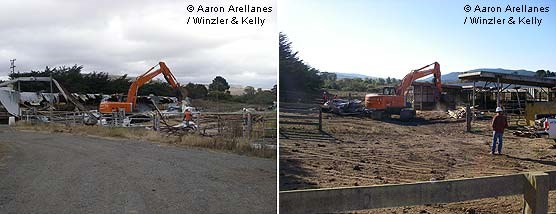 Giacomini Wetland Restoration Project: Dairy Barn Demolition