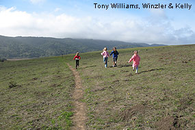 Kids enjoying Tomales Bay Trail. © Tony Williams, Winzler & Kelly