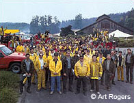 Firefighters and support personnel who helped fight the 1995 Vision Fire.