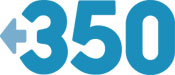 Logo for 350.org