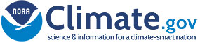 Logo for NOAA's Climate.gov. Science & information for a climate-smart nation.