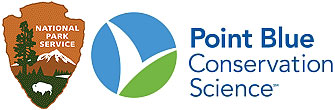 Logos of the National Park Service and Point Blue Conservation Science.
