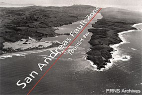 Aerial view of the San Andreas Fault Zone from north of Tomales Point.