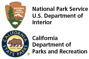 Logos of the National Park Service and the California State Parks