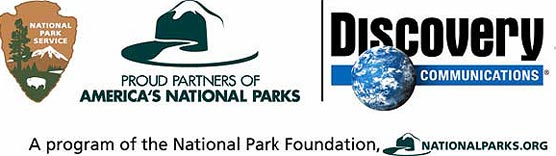 Logos of the National Park Service, National Park Foundation and Discovery Communications