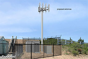 Image of Proposed Point Reyes Hill Verizon Wireless Antenna.