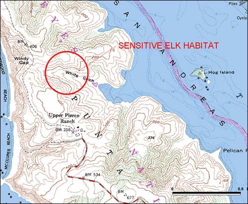 Elk Habitat Nevada Map of Sensitive Elk Habitat