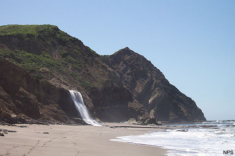 Looking south along Wildcat Beach to Alamere Falls and Double Point. April 19, 2006.