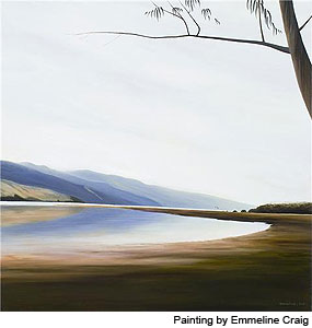 "Painting: ""Bolinas Lagoon Reflections"" by Emmeline Craig"