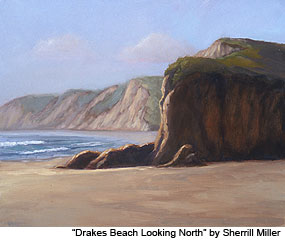 "Painting: ""Drakes Beach Looking North"" by Sherrill Miller"