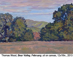 "Oil on canvas painting: ""Bear Valley, Autumn"" by Thomas Wood, 2013."