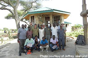 Staff of Ikona Wildlife Management Area with Department of the Interior team.
