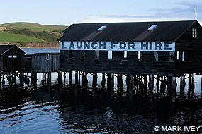 """Launch for Hire"" Boathouse in Inverness. Site of the Seashore Youth Ambassadors Project Kickoff Party on Friday, June 20, 2014. © Mark Ivey"