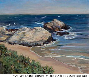"Painting: ""View from Chimney Rock"" by Lissa Nicolaus."