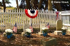 Historic U.S. Life-Saving Service Cemetery near the G Ranch in Point Reyes National Seashore © Elaine Straub