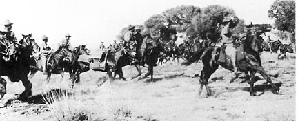 Tenth Cavalry charge in Mexico